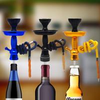 ingrosso kit da bowling-Kit narghilè Shisha Premium Champagne / Wine Top con gambo HOOKITUP Kit narghilè Chicha alluminio completo con scodella e tubo