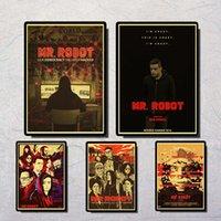 Wholesale robot paper for sale - Group buy Mr Robot Rami Said Malek Darlene Elliot Alderson Vintage Paper Poster Wall Painting Home Decoration X30 CM X21 CM