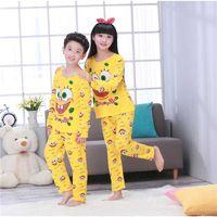 Wholesale suit pijamas for sale - Group buy Children s pajamas for girls boys Autumn Winter Sleepwears Suits Baby Lovely Pyjamas teen Cartoon Pijamas Kids home Clothing