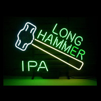 Wholesale custom pub glasses online - Long Hammer Neon Sign Custom Handmade Real Glass Beer Bar Pub Store Club Hotel Display Neon Signs Home Decoration quot X15 quot