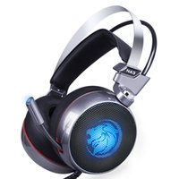 ingrosso giochi virtuali-Zop N43 Stereo Gaming Headset 7.1 Virtual Surround Bass Gaming Cuffie con Microfono Led per Computer Pc Gamer T6190617