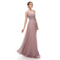 robes en mousseline de soie maxi achat en gros de-100% vraie image mauve élégant une ligne dentelle en mousseline de soie robe de bal Occasion spéciale longue robe de soirée formelle robe maxi 5309
