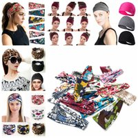 Wholesale accessories cross online - 99styles Women Knotted Wide Headband Floral stripes Yoga Headwrap Cross Stretch Sport Hairband Turban Head Band Hair Accessories AAA2088