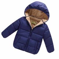 ropa de calidad para niños pequeños al por mayor-Calidad Niños Chicos pequeños Chaqueta de abrigo Chaquetas Para niños Ropa de abrigo Ropa casual para bebés Niñas Otoño Invierno Parkas