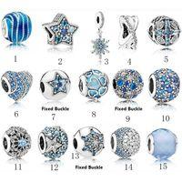 gümüş takı satıcıları toptan satış-Bilezikler Lüks Tasarımcı Takı Panduola için Top Satıcı S925 Gümüş Boncuklar Stil Charm Boncuk Bilezik Aşk Pembe Kristal DIY Boncuk