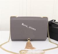 rockhandtaschen großhandel-Designer Handtaschen Metallkette Gold Silber Designer Handtasche Echtes Leder Tasche Flip Cover Diagonale Umhängetaschen