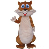 Home Big Tail Green Squirrel Mascot Costumes Happy Animal Costumes Large Assortment