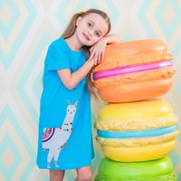Wholesale formal clothing for kids for sale - Designer Clothes for Girl Unicorn Dress Animals Cotton Short Sleeve Dress Summer Casual kids Clothes T