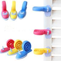 Wholesale door stoppers wholesale online - Children Kids Safe Snail Shape Door Stops Kawaii EVA Plastic Baby Safety Lock Door Stopper Protector Baby Care