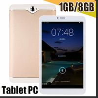 Wholesale pc 8gb ram resale online - 168 G Inch Phabet Phone Call Tablet Pc px Capactive Screen Mtk8312 Quad Core Cpu Ram GB Rom GB ROM Android System Gps Wif