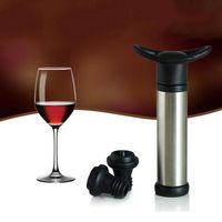 ingrosso bottiglia a vuoto tappo vino sigillato-Tappo per vino con pompa per vuoto Accessori per bar Tappo per aeratore Tappo per bottiglia in acciaio inossidabile Conserva il vino Sigillatore Fresh Saver