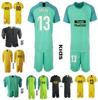 18 19 Kit de camiseta de portero de fútbol para niños   13 OBLAK GRIEZMANN  KOKE camiseta 18 19 de futbol Kit de uniformes de portero para niños 4776a8868ec2e