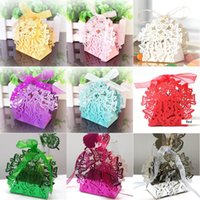 Wholesale butterflies gifts for sale - Group buy Hollow Butterfly Wedding Candy Box Hollow Out Lace Wedding Candy Box Birthday Gift Boxes Multi Color Wedding Valentine Candy Bag
