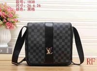 Wholesale briefcase online - 2018 Brand Designer Men Genuine Leather Handbag Black Briefcase Laptop Shoulder Bag Messenger Bag Male desginer handbags wallets with tag