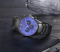 часы usa оптовых-США италия дизайн мода мужчины большие часы золото серебро нержавеющая сталь высокое качество мужской кварцевые часы человек наручные часы бизнес классические часы