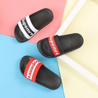 Wholesale indoor slippers for kids for sale - Group buy Children Slippers for Boys Girls Fashion Letter Home Shoes Indoor Anti skid Shoes for Kids Toddler and Big Boys White Slipper