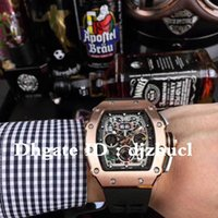 Wholesale gold pointer resale online - Montre de luxe fully automatic movement watch RM50 luminous dial pointer x50x16mm deep waterproof stainless steel case top watch