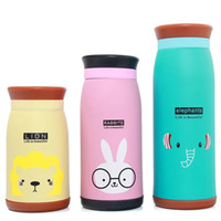 ingrosso termos in acciaio inox per bambini-Del fumetto Animali Thermos Bottle Bambini studente carino Thermo Mug Stainless Steel Belly Cup Thermos Thermocup