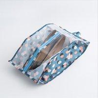 tuchkleidung aufbewahrungsbeutel großhandel-Easy Carry Frauen reisen Schuhe Aufbewahrungstasche Oxford Tuch Staubschutz Kleidung kosmetische Veranstalter wasserdicht transparent Paket Tasche