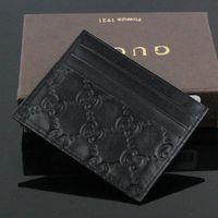 bolsas pequenos venda por atacado-Venda quente de Couro Genuíno Negócio Pequeno carteira de Alta Qualidade Fina Banco ID Card Case Coin Pouch Bag com caixa