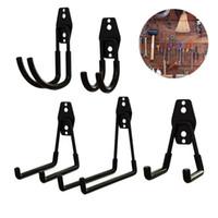 Wholesale door screws resale online - Black Iron Hook Set Stainless Steel Bathroom Toilet Door Unlined Hook Hangers Screw Garage Balcony Storage Metal