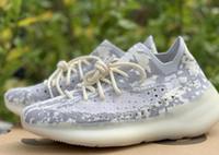 sapatas running dos homens que livram o transporte venda por atacado-2019 Kanye West V3 Marca Designer Alien Running Shoes Preto Branco Reflexivo Homens Mulheres Malha Esporte Sapatilha 36-46 frete grátis