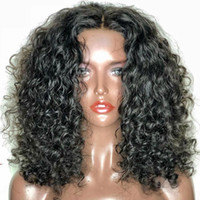 Wholesale unprocessed human hair curly wigs resale online - Full Lace Silk Base Glueless Wig Water Wave Malaysian Silk Top Full Lace Wigs Unprocessed Human Hair Glueless Lace Front Silk Base Wig