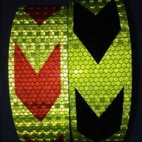 ingrosso nastro riflettente bianco rosso-5CM * 45CM autoadesivo autoadesivo adesivo riflettente in PVC adesivo in PVC veicolo stradale traffico segno riflettente