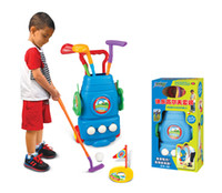 Wholesale moving toys baby resale online - Child sport Golf ball Golf clubs set toy Can move the ball box Indoor and outdoor sport ball fitness toys baby kids best gift