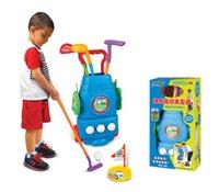 ingrosso palline da golf giocattolo-Sport per bambini Pallina da golf Mazze da golf set giocattolo Può spostare la scatola per palline Sport fitness per interni ed esterni per bambini Giocattoli per bambini Miglior regalo