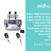 Wholesale skin care beauty ultrasound resale online - newest vmax high intensity focused ultrasound fat burning face lifting skin care facial massager beauty machine equipment salon home use