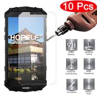 doogee phone toptan satış-Doogee S60 Için 10 adet Hopelf Temperli Cam Ekran Koruyucu 9 h 2.5d Doogee S60 J190505 Için Telefon Koruyucu Film Cam