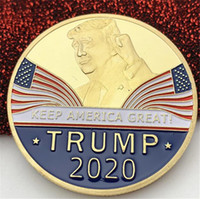 Wholesale Trump Commemorative Coin Plating Gold Trump avatar Keep America Great DHL ship