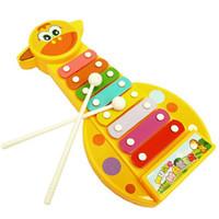 bébé instruments de musique jouets achat en gros de-Bébé 8-Note Xylophone Musical Maker Jouets Xylophone Wisdom Juguetes Musique Instrument Son Jouets Intelligence Jouets CCA11733 120pcs