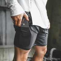 Wholesale phone s for sale - Group buy 2019 New Men Sports Gym Compression Phone Pocket Wear Under Base Layer Short Pants Athletic Solid Tights Shorts Pants