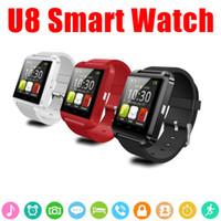 montre chaude téléphone achat en gros de-Montre Smart Watch U8 Montre Smartwatch U Pour iOS iPhone Samsung Téléphones Android Sony Huawei Dans Boîte de cadeau Vente chaude
