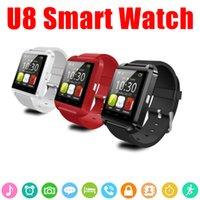 smartwatch para la venta al por mayor-Smart Watch U8 Smartwatch U Watch para iOS iPhone Samsung Sony Huawei Teléfonos Android en caja de regalo Venta caliente