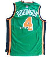 yeşil mayo kumaş toptan satış-Erkekler # 4 Nate Robinson YEŞIL BEYAZ MAVI Örgü kumaş Tam nakış Koleji forması Boyutu S-4XL veya özel herhangi bir isim veya numara Kolej forması