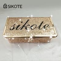 estuche de maquillaje dorado al por mayor-SIKOTE 19cm Estuches cosméticos sólidos para bolsa de maquillaje Caja de oro rosa Portátil para viajes Bolsas de cosméticos con cerrojo Regalo de mujer de moda