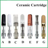 Wholesale Ceramic Vape Cartridges Glass CE3 Atomizers G5 TH205 Wood Tip ML ML Vaporizer For Thick Oil