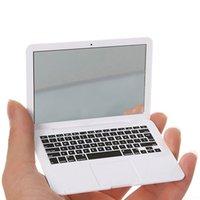 mini espelhos compactos venda por atacado-Mini Laptops espelho portátil Mini Laptop Espelho Personalidade Make Up Espelho Portátil Compact Espelho De Maquiagem Ferramentas RRA2046