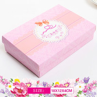 Wholesale packing for socks resale online - 300pcs cmx12cmx4cm New design Delicate Gift Paper Packaging Boxes Packing for Socks Scarf Underwear Paper Carton