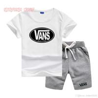 vs kleidung großhandel-VS Kleine Kinder Sets 1-7 T Kinder T-shirt Und Kurze Hosen Reine Farbe 2 Teile / sätze Baby kinder designer kleidung mädchen Sets
