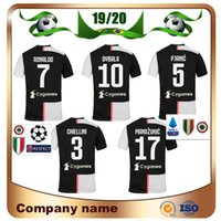 Wholesale ronaldo grey uniform online - New Patch Home RONALDO DYBALA Soccer Jersey PJANIC MANDZUKIC BONUCCI D COSTA Soccer Shirts Football uniform
