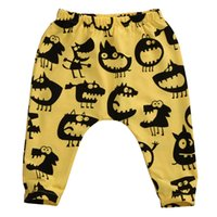 leggings garçon mignon achat en gros de-Automne Mode Vêtements pour enfants Enfants Tout-petit bébé fille Monstre mignon Cartoon animal Harem longues Pantalons Pantalons Leggings Bas