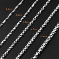 edelstahl quadratische verbindung großhandel-Modeschmuck Zubehör Unisex Square Link Venezianische Halskette Silberkette Edelstahl Halskette Box Kette für Frauen