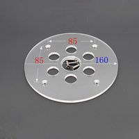 ingrosso incisione ottone-Router elettrico piastra base rotonda + 10 pezzi guida modello router in ottone boccole accessori macchina per incisione e taglio