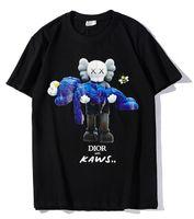 camisetas de juguete al por mayor-9102 nueva camiseta negra di hombres o mujeres Muñeca oso abrazo juguetes impresión rhinestone T-Shirt manga corta O-cuello T-shirt por mayor S-XXL