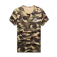 ropa de camuflaje gratis al por mayor-Para mujer diseñador camisetas de diseño de lujo para hombre camisas de diseño de los hombres transpirable ropa anti-encogimiento camuflaje envío gratis hecho QCC-B426