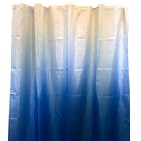 Bath Home Decor Bathroom Gradient Print Non Slip Polyester Fabric Accessories Waterproof With Hooks Hanging Shower Curtain